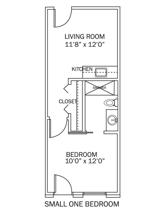 Small One Bedroom Apartment Floor Plans dudneywood - retirement and assisted living community: floor plans